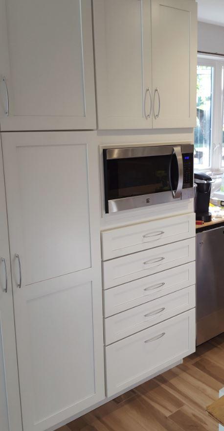 Alternative to Microwave Trim Kit in Kitchen Remodel NH