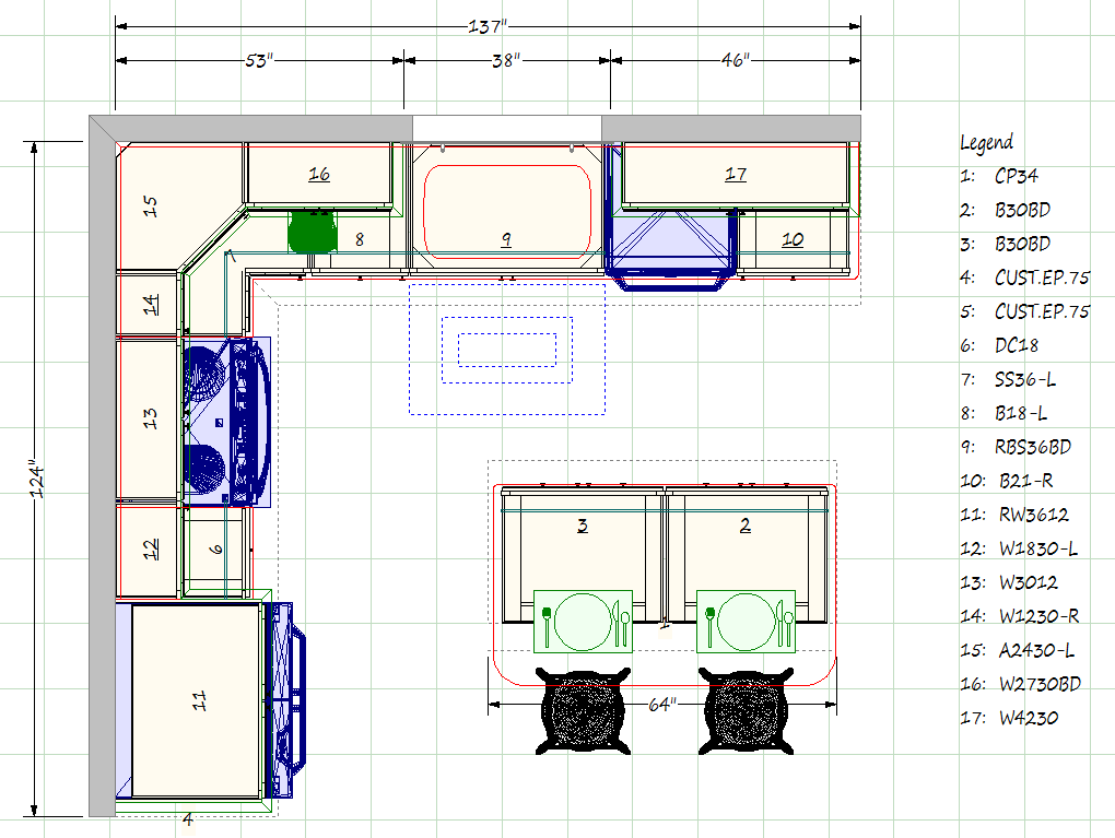 Remodeling budget for Kitchen arrangement layout